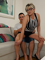 Naughty housewife doing her younger lover